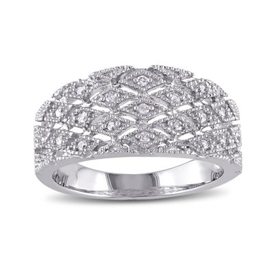 1/10 CT. T.W. Diamond Sterling Silver Ring
