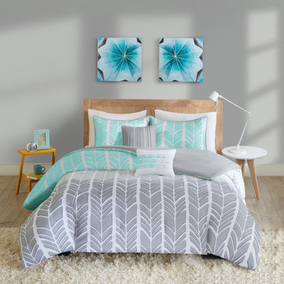 Intelligent Design Kennedy Chevron Duvet Set