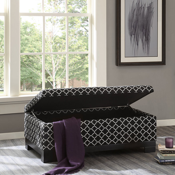 Madison Park Bennie Storage Ottoman