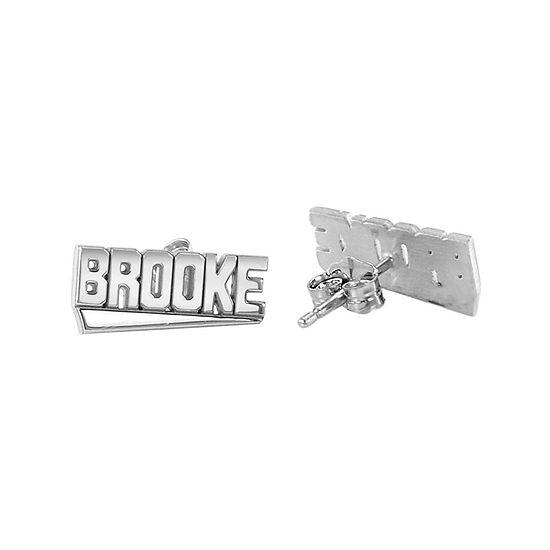 Personalized Block Name Earrings