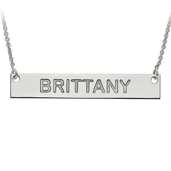 Personalized 6x39mm Block Name Bar Necklace