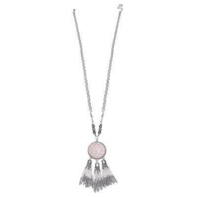 Mixit Womens Round Pendant Necklace