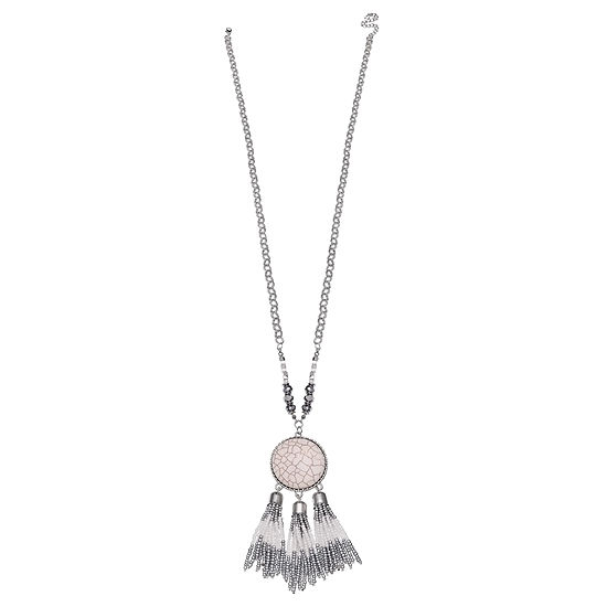 Mixit 34 Inch Cable Round Pendant Necklace