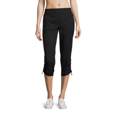 Made For Life Woven Cinched Workout Capri-Tall