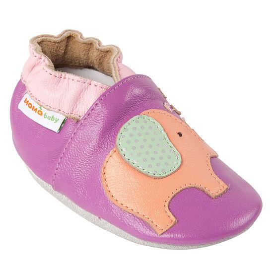 Momo Baby Girls Lovey Elephant Crib Shoes