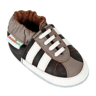 Momo Baby Striped Sneaker Boys Crib Shoes-Baby