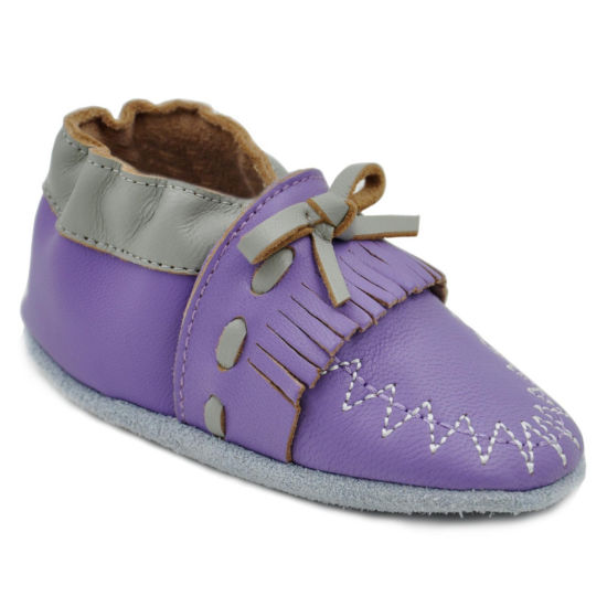 Momo Baby Fringe Moccasin Crib Shoes