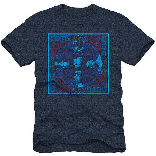 Guardians of the Galaxy Group Square  Marvel Graphic T-Shirt