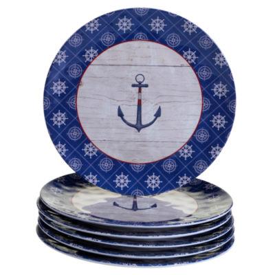 Certified International Nautique 6-pc. Dinner Plate
