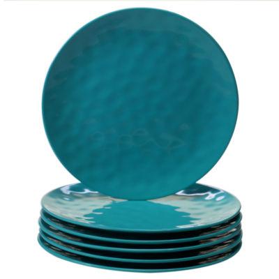 Certified International Teal 6-pc. Dinner Plate