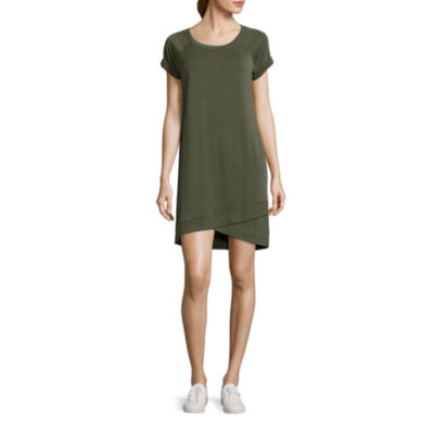 Xersion Studio Crossover Sweatshirt Dress