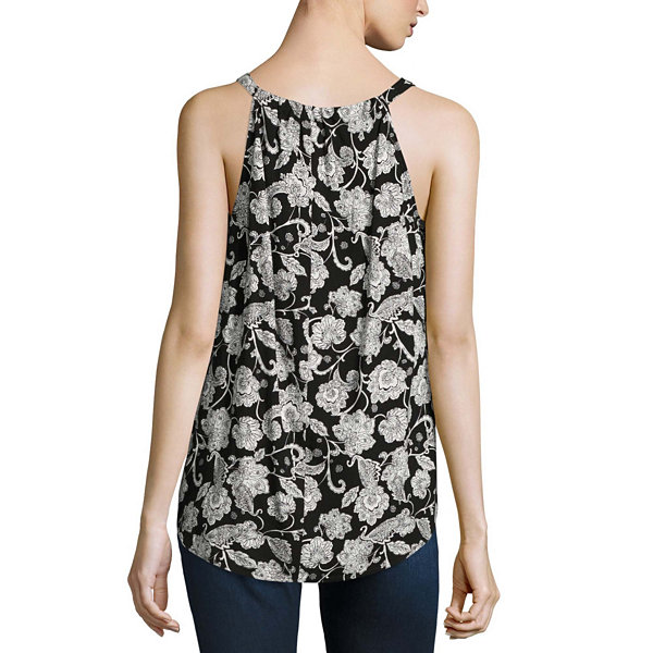Alyx Sleeveless Round Neck Floral Blouse