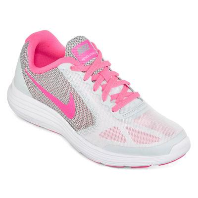 Nike® Revolution 3 Girls Running Shoes - Big Kids