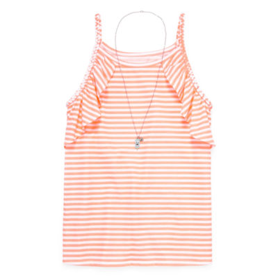 Arizona Ruffle Tank Top - Girls' 4-16 & Plus