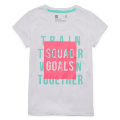 Xersion Short Sleeve Graphic Short Sleeve T-Shirt -Girls 4-16 and Plus