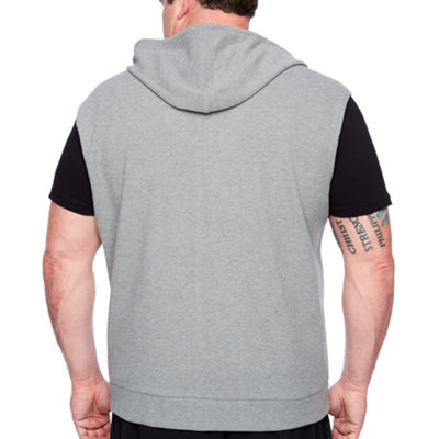 The Foundry Big & Tall Supply Co. Sleeveless Pique Hoodie-Big and Tall