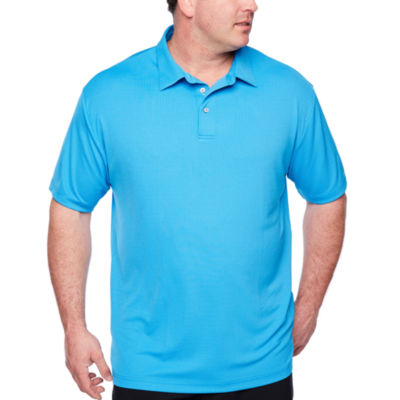 PGA TOUR Easy Care Short Sleeve Jacquard Doubleknit Polo Shirt Big and Tall