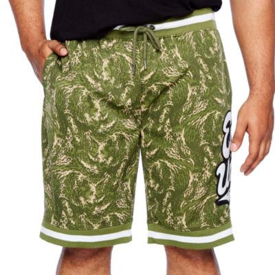 Ecko Unltd Mens Drawstring Waist Pull-On Shorts-Big and Tall