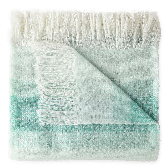 JCPenney Home Faux Mohair Ombre Throw