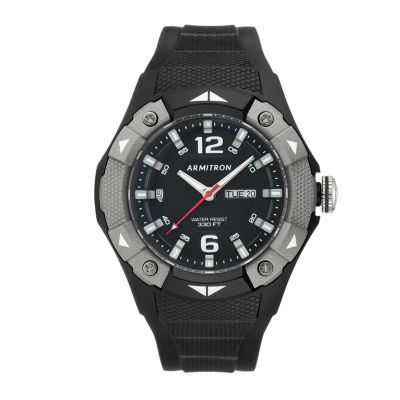 Armitron Prosport Mens Black Strap Watch-20/5292gbk