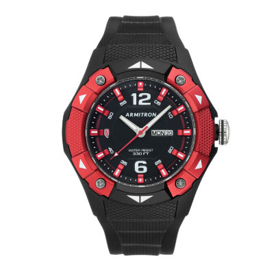 Armitron Prosport Mens Black Strap Watch-20/5292rbk
