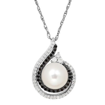 Womens 1/4 CT. T.W. White Cultured Freshwater Pearl Sterling Silver Pendant Necklace
