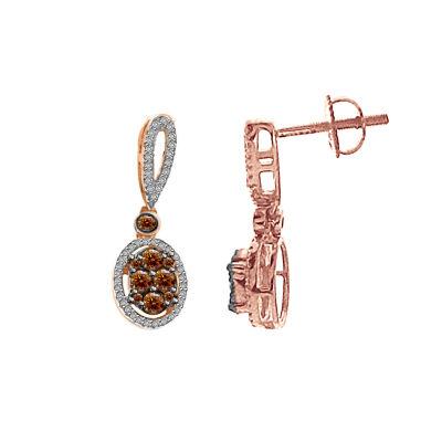 5/8 CT. T.W. Genuine White Diamond 10K Gold Drop Earrings
