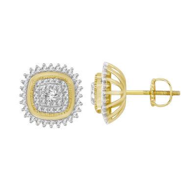 1/2 CT. T.W. White Diamond 10K Gold Drop Earrings
