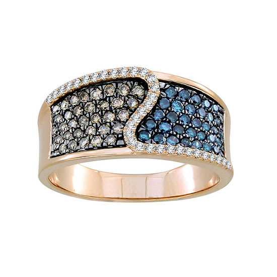 Womens 3/4 CT. T.W. Genuine Champagne Diamond 10K Gold Cocktail Ring