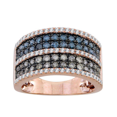 Womens 1 1/2 CT. T.W. White Diamond 10K Gold Band