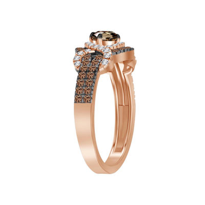 Womens 5/8 CT. T.W. Genuine Champagne Diamond 10K Gold Cocktail Ring