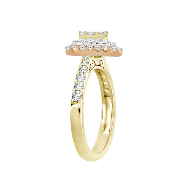Womens 3/4 CT. T.W. White Diamond 14K Gold Cluster Ring