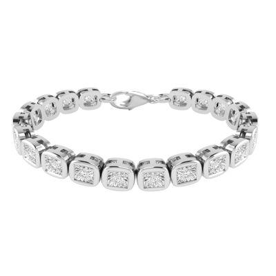 1/4 CT. T.W. Genuine White Diamond Sterling Silver 7 Inch Tennis Bracelet