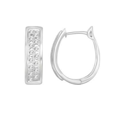 1/10 CT. T.W. Genuine White Diamond Sterling Silver Earring Set