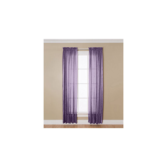 Miller Curtains Aria Light-Filtering Rod-Pocket Single Curtain Panel