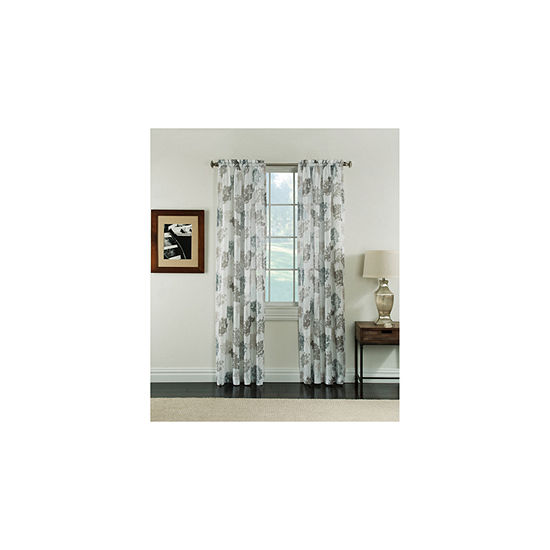 Miller Curtains Audrey Semi-Sheer Rod-Pocket Curtain Panel