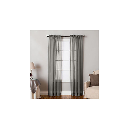 Miller Curtains Carlyn Sheer Rod-Pocket Curtain Panel