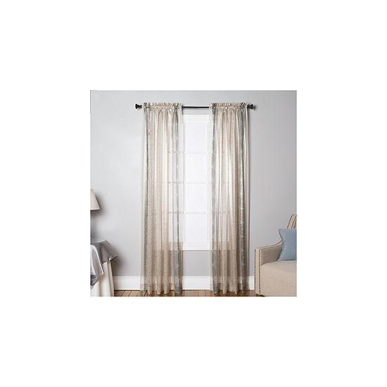 Miller Curtains Charlton Semi-Sheer Rod-Pocket Curtain Panel