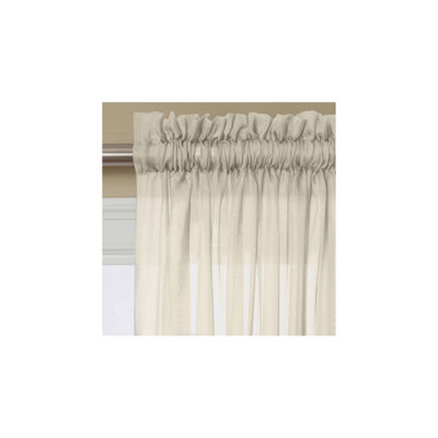 Miller Curtains Solunar Voile Sheer Rod-Pocket Curtain Panel