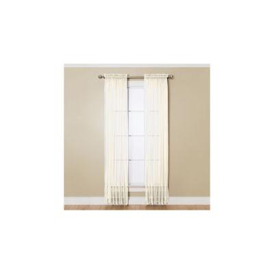 Miller Curtains Solunar Voile Sheer Rod-Pocket Curtain Panel