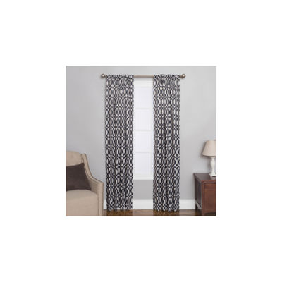 Miller Curtains Sydney Rod-Pocket Curtain Panel