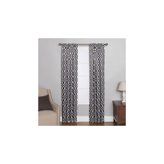 Miller Curtains Sydney Rod-Pocket Curtain Panel