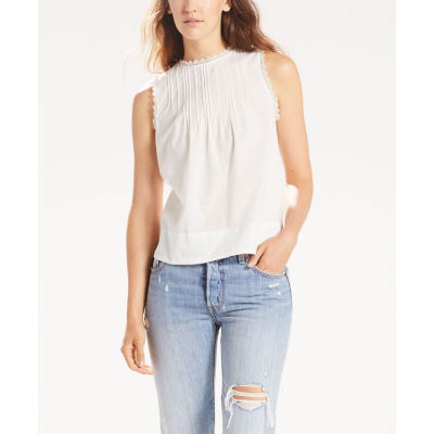 Levi's Short Sleeve Crew Neck Blouse