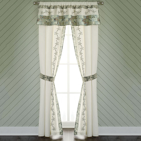 Home Expressions Rod-Pocket Set of 2 Curtain Panel