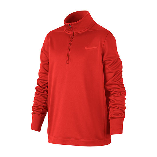 Nike Boys Long Sleeve Dri-Fit Quarter-Zip Pullover - Big Kid