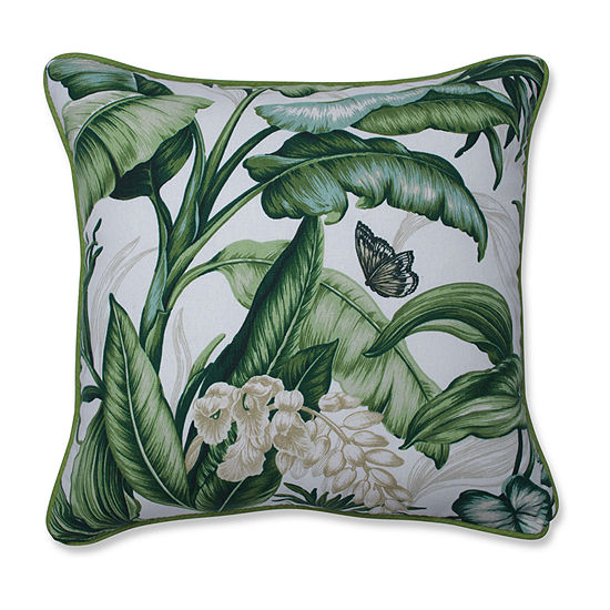 Pillow Perfect Wailea Coast Verte Square Throw Pillow