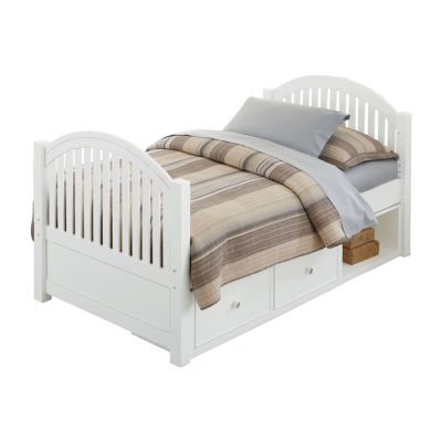 Lake House Adrian Twin Bed with 2 Storage Units
