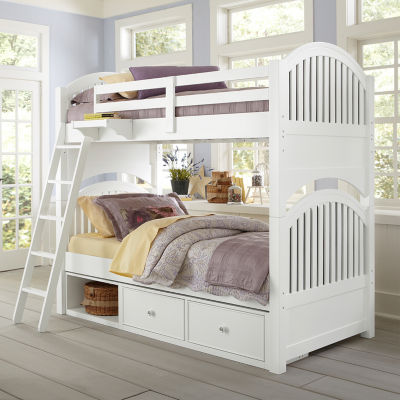 Lake House Adrian Twin Over Twin Bunk with Storage