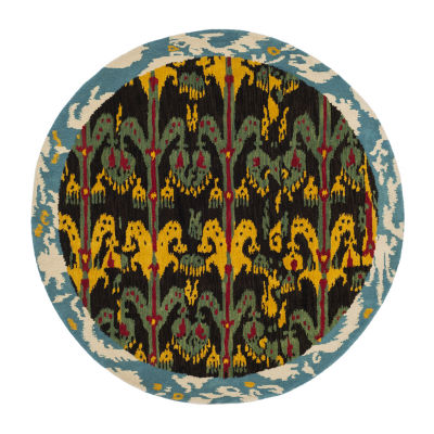 Safavieh Ikat Collection Corynn Floral Round Area Rug