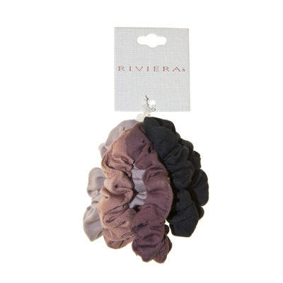 Riviera Jersey Neutral Scrunchies 4-pc. Hair Ties